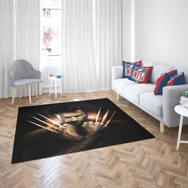 Wolwerine Hugh Jackman Bedroom Living Room Floor Carpet Rug 3