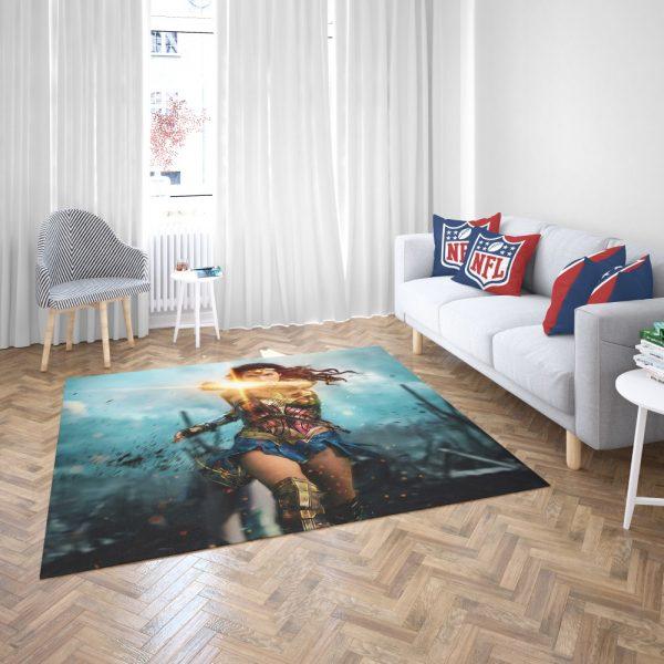 Wonder Woman Diana Prince Gal Gadot Bedroom Living Room Floor Carpet Rug 3