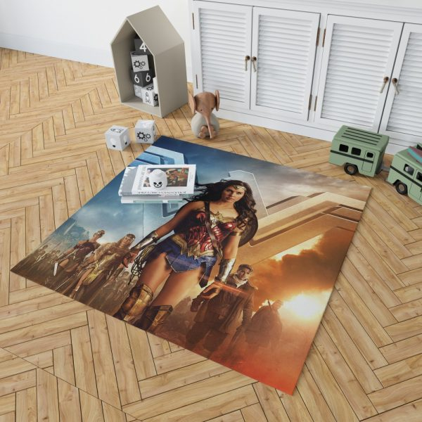 Wonder Woman Gal Gadot Bedroom Living Room Floor Carpet Rug 2