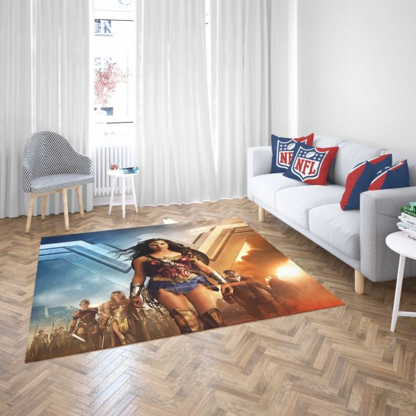 Wonder Woman Gal Gadot Bedroom Living Room Floor Carpet Rug 3