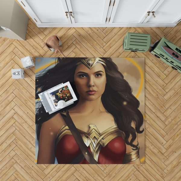 Wonder Woman Movie DC Comics Gal Gadot Woman Warrior Bedroom Living Room Floor Carpet Rug 1