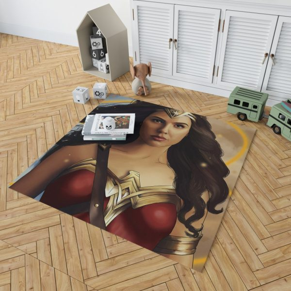 Wonder Woman Movie DC Comics Gal Gadot Woman Warrior Bedroom Living Room Floor Carpet Rug 2