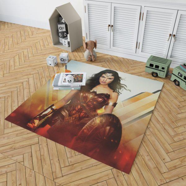 Wonder Woman Rise of the Warrior Movie Bedroom Living Room Floor Carpet Rug 2