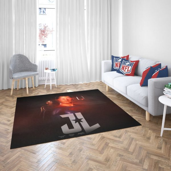Wonder Woman Superman Batman Bedroom Living Room Floor Carpet Rug 3