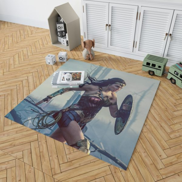 Wonder Women Girls Super Heroine Bedroom Living Room Floor Carpet Rug 2