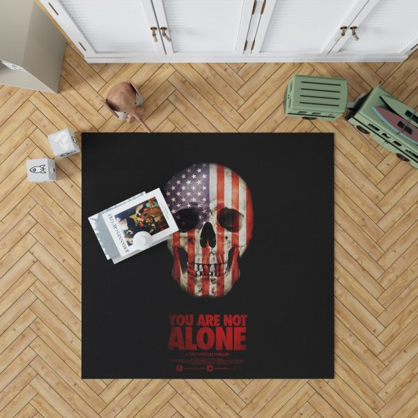 You Are Not Alone Movie Skull USA Bedroom Living Room Floor Carpet Rug 1