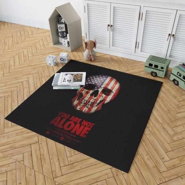 You Are Not Alone Movie Skull USA Bedroom Living Room Floor Carpet Rug 2