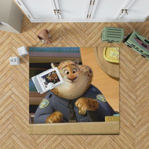 Zootopia Movie Benjamin Clawhauser Bedroom Living Room Floor Carpet Rug 1