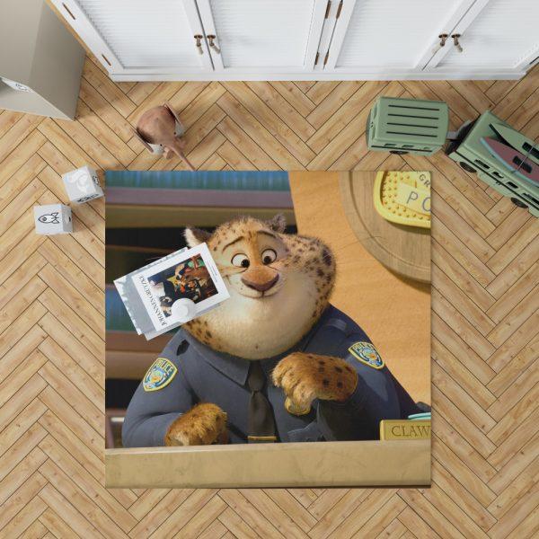 Zootopia Movie Benjamin Clawhauser Bedroom Living Room Floor Carpet Rug 1