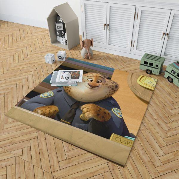 Zootopia Movie Benjamin Clawhauser Bedroom Living Room Floor Carpet Rug 2