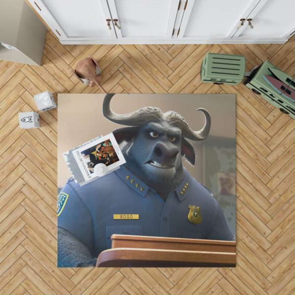Zootopia Movie Chief Bogo Bedroom Living Room Floor Carpet Rug 1