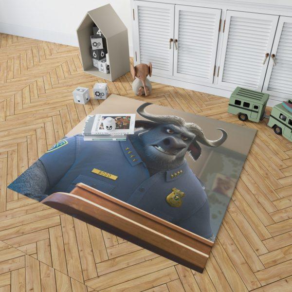 Zootopia Movie Chief Bogo Bedroom Living Room Floor Carpet Rug 2