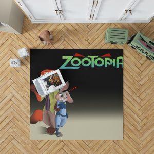 Zootopia Movie Judy Hopps Nick Wilde Bedroom Living Room Floor Carpet Rug 1