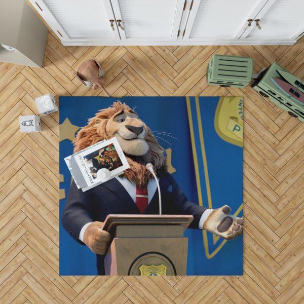 Zootopia Movie Mayor Lionheart Bedroom Living Room Floor Carpet Rug 1