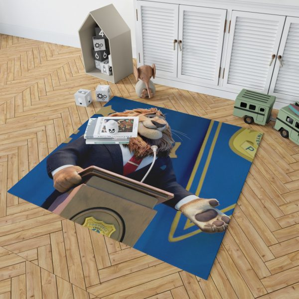 Zootopia Movie Mayor Lionheart Bedroom Living Room Floor Carpet Rug 2