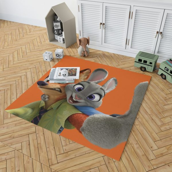Zootopia Movie Nick Wilde Judy Hopps Bedroom Living Room Floor Carpet Rug 2