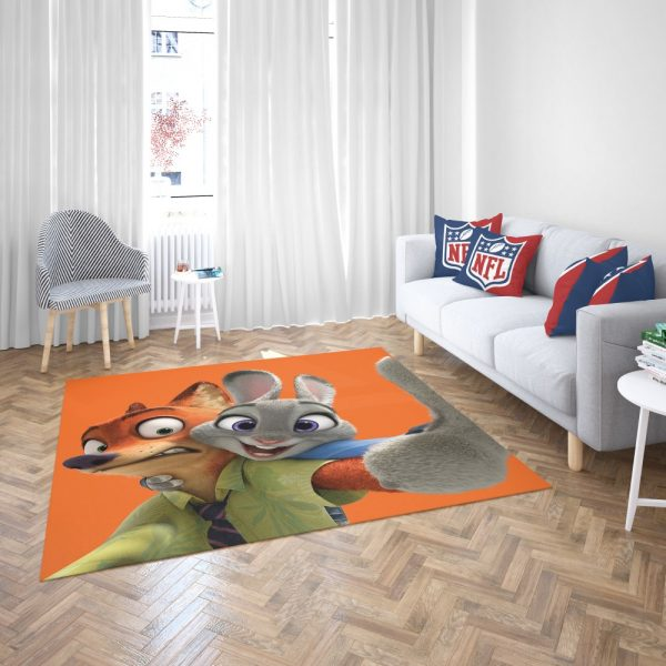 Zootopia Movie Nick Wilde Judy Hopps Bedroom Living Room Floor Carpet Rug 3