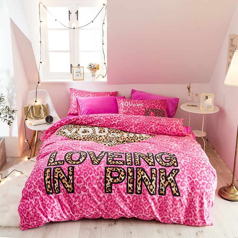 Brand Pink Victoria Secret Bed Set Queen Size