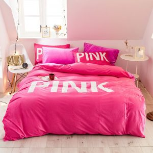 Cute Bed Set Queen Size Victoria Secret Pink