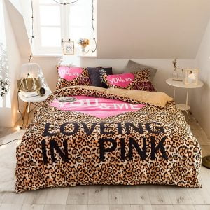 Girls Bedding Set Pink Victoria Secret Queen Size