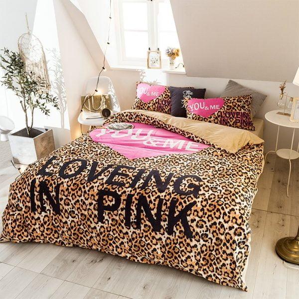Girls Bedding Set Pink Victorias Secret Queen Size 10