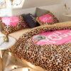 Girls Bedding Set Pink Victorias Secret Queen Size 4