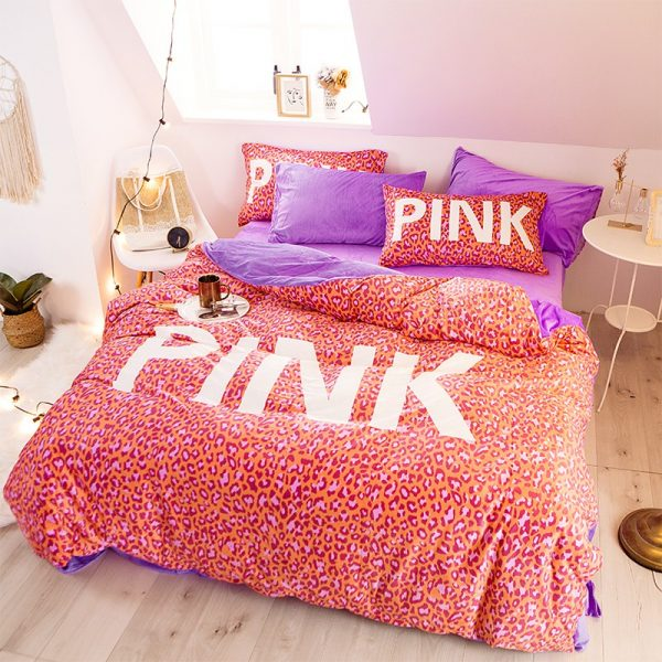 Pink Love Victorias Secret Bedding Set Queen 2