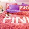 Pink Love Victorias Secret Bedding Set Queen 3