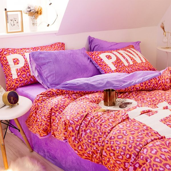 Pink Love Victorias Secret Bedding Set Queen 4