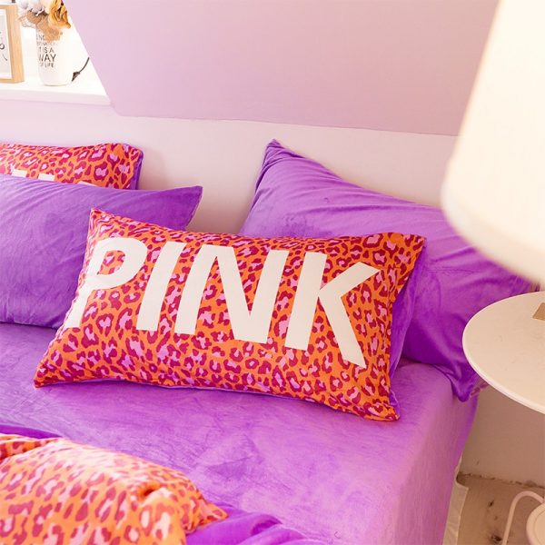 Pink Love Victorias Secret Bedding Set Queen 5