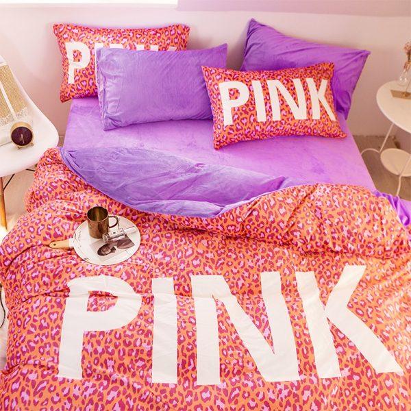 Pink Love Victorias Secret Bedding Set Queen 6