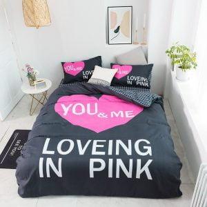Pink Sets Victoria Secrets Queen Bedding Set