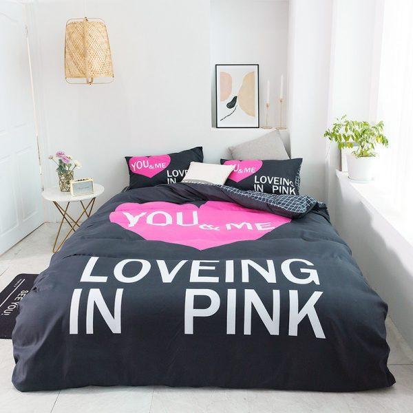 Pink Sets Victoria Secrets Queen Bedding Set 12