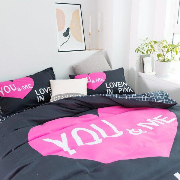 Pink Sets Victoria Secrets Queen Bedding Set 2