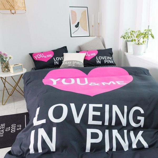 Pink Sets Victoria Secrets Queen Bedding Set 8