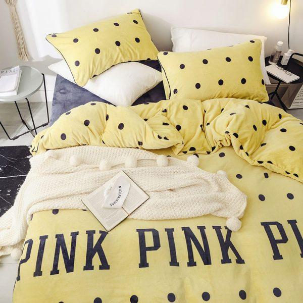 Pink Victoria Secret Queen Double Colonial White Velvet Bedding Set 10