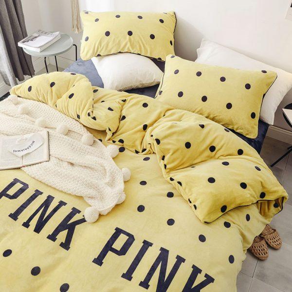 Pink Victoria Secret Queen Double Colonial White Velvet Bedding Set 11