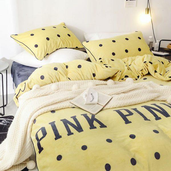 Pink Victoria Secret Queen Double Colonial White Velvet Bedding Set 15