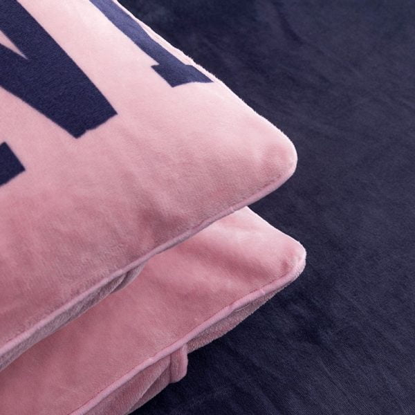 Pink Victoria Secret Queen King Old Rose Velvet Bedding Set 3