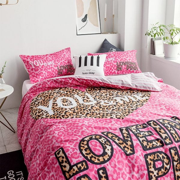 Pink by Victoria Secrets Bedding Queen Size Set 4