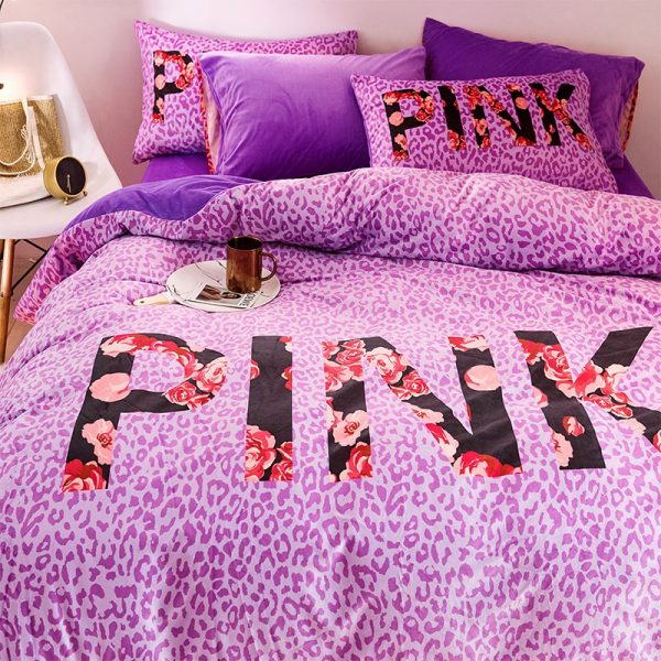Queen Comforter Set Pink Victorias Secret 10