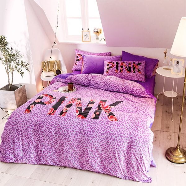 Queen Comforter Set Pink Victorias Secret 2