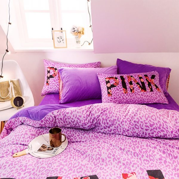 Queen Comforter Set Pink Victorias Secret 6