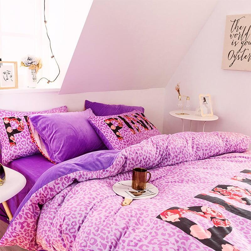 Queen Comforter Set Pink Victoria Secret