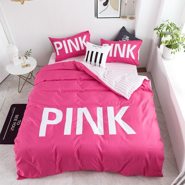Victoria Secret Pink Comforter Set Queen Size