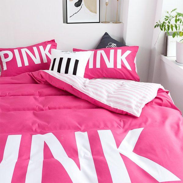 Victoria Secret Pink Comforter Set Queen Size 3
