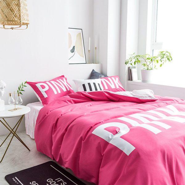 Victoria Secret Pink Comforter Set Queen Size 4