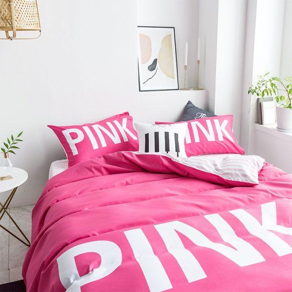 Victoria Secret Pink Comforter Set Queen Size 5