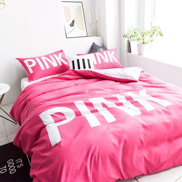 Victoria Secret Pink Comforter Set Queen Size 9