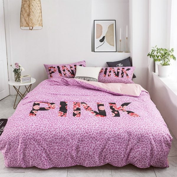 Victoria Secret Pink Modern Bedding Set